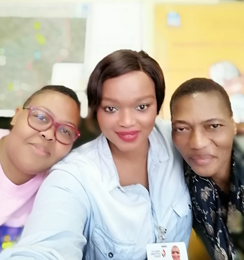 Nthabiseng Malakoane and 2 AYFS Co-ordinators.jpg